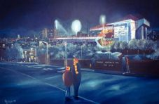 Bradford City  - 'Going to the Match'  Valley Parade  20'' x 30'' Box Canvas Print
